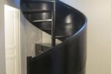 garde corps acier habillage escalier bois